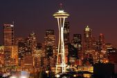 Seattle brightest at night — Stock Photo
