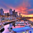 Seattle skyline and waterfront in sunrise — Stock Photo #37923013