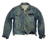 Denim jacket unbuttoned — Stock Photo