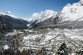 Yumthang valley in Sikkim — Foto Stock