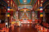 Interiores do mosteiro de ravangla — Foto Stock