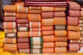 Tkane maty tekstylne — Zdjęcie stockowe
