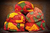 Colorful Rajasthani turbans — Stock Photo