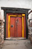 Colorful monastery door — Photo