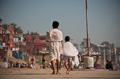 Hindu Pilgrims at Varanasi — Stock Photo