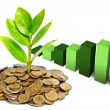 Tress growing on coins — Stock Photo #41522311