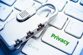 Sulla privacy — Foto Stock