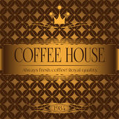 Сoffee house menu design — ストックベクタ