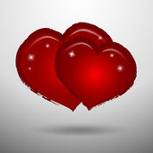 Amor nos corações — Vetor de Stock