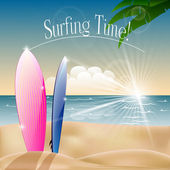 Surfing — Stock Vector