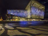Concert Hall, Reykjavik at night — Stock Photo