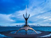 Solfar (Sun Voyager) Sculpture, Reykjavik, Iceland — Stock Photo
