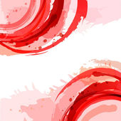 Red. Abstract vector square background with brush strokes and wa — Stock Vector