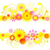 Vector banner with flower pattern and place for message. — Vecteur