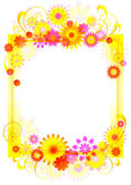 Vertical vector frame with flower pattern. — Stock Vector