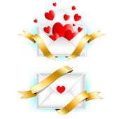 Valentine's day greeting letter. — Stock Vector