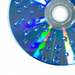 Water drop on CD rom — Stock Photo #40015981