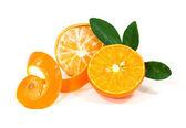 白い背景で隔離されたオレンジ色の果物 — ストック写真