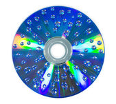 Water drop on CD rom — Stock Photo