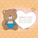 Lovely bear card collection No.01 — Stock Vector