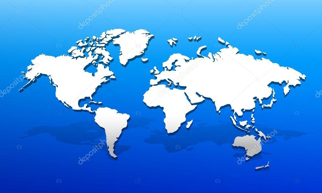 3d 世界地图 — 图库矢量图片#39402283