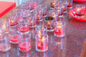 Candle in the glass — Stock Photo