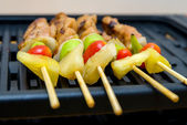 Barbecue grill closeup — Foto Stock