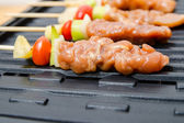 Closeup grilling barbecue — Stockfoto