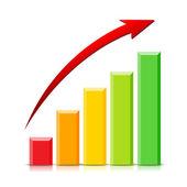 Growing Graph — Stock Vector