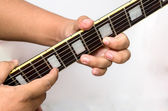 Guitar tapping technic — Stock Photo
