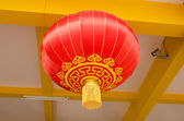 Chinese lantern on ceiling — Stock Photo