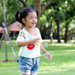 Asian baby girl playing bubble balloon — Stock Photo #46823889