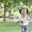 Asian baby girl playing bubble balloon — Stock Photo #46824267