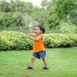 Asian baby girl playing bubble — Stock Photo #47260939