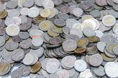 Many of Thai Baht Coins background — Stock Photo