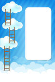 Cloud and blue background New 003 — Stock Vector