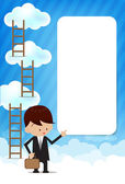 Cloud and blue background New 009 — Stock Vector