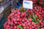 Reif lychee im markt — Stockfoto