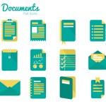 Documents icon set. — Stock Vector #43268165