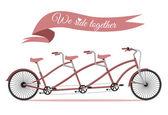 Vélo famille triplet. — Vecteur