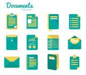 Documents icon set. — Stock Vector