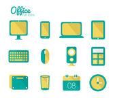 Office icon set. — Stock Vector