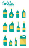 Bottles and package Icons Set. — Vector de stock