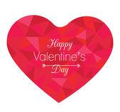 Geometric Heart shape. — Stock Vector