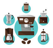 Coffee makers. — Stock Vector