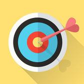 Dart Hitting A Target. lucky in game lucky in love. — Stockvektor