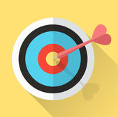 Dart Hitting A Target. lucky in game lucky in love. — 图库矢量图片
