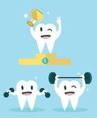 Sağlıklı dişler. — Stok Vektör