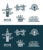 British Landmarks. — Stock Vector
