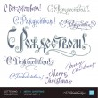 CHRISTMAS greetings hand lettering set 2 (vector) — Stock Vector